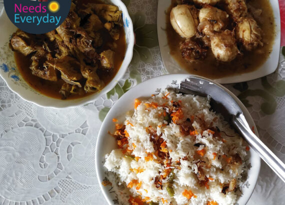 Polow, Chicken & Egg Korma