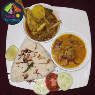 Polow, chicken & Cholar Dal