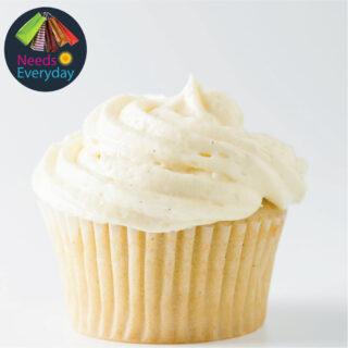 Vanilla cupcake with cream cheese