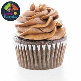 chocolate cupcake with cream cheese
